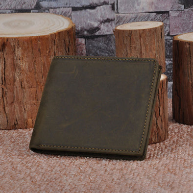 Fashion Scrub Cowhide Luxury Women Dark Brown Wallet - Buykud