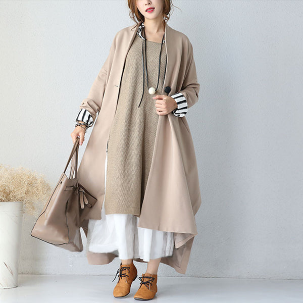 Autumn Stitching Loose Casual Jacket Coat