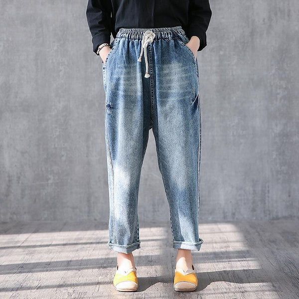 Casual Straight Vintage Ankle Length Jeans