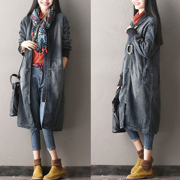 Loose Thick Cotton Coat