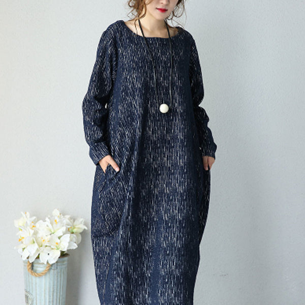 Round Neck Dress Gown