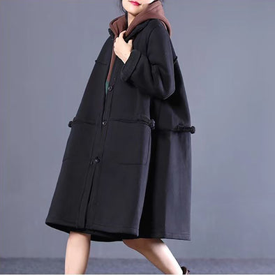 Winter Loose Casual Long Cotton Coat