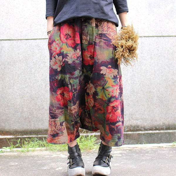 Cotton Retro Print Harlan Pants