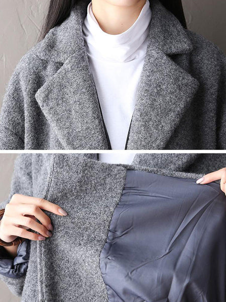Wool Casual Jacket Coat