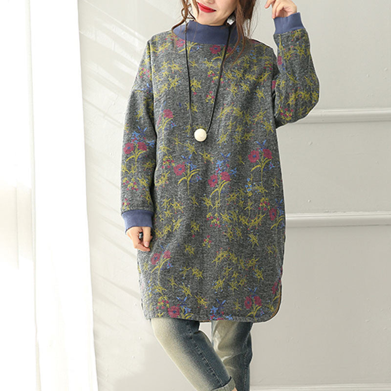 Cotton Linen Retro Print Jacket