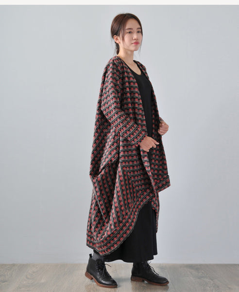 Women Winter Hooded Wool Coat