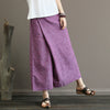 Casual Elastic Waist Summer Women Long Purple Loose Pants