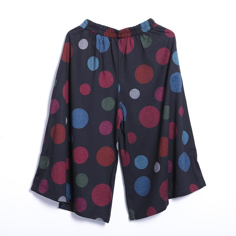 Casual Dot Wide Leg Pants Pullover Regular Long Sleeve Set