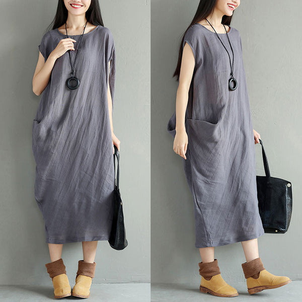 Irregular Round Neck Women Vest Dress