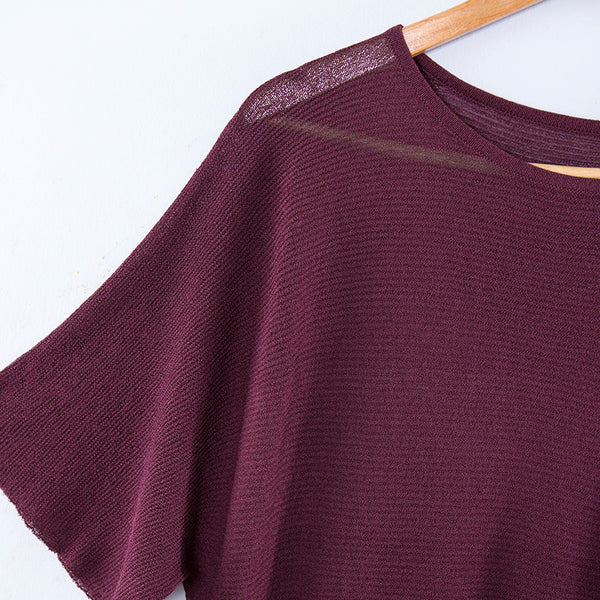 Women Summer Casual Simple Knitted Shirt - Buykud