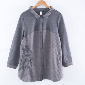 Autumn Casual  Long Sleeve Loose Gray Coat For Women - Buykud