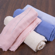 Casual Cotton Rectangle Women Beige Scarf - Buykud