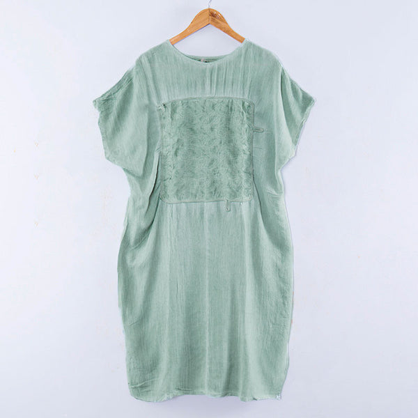 Applique Embroidered Women Casual Summer Dress - Buykud