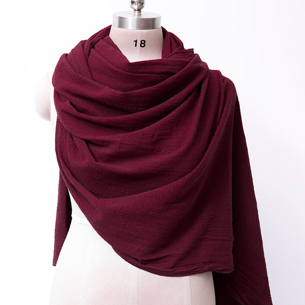 Retro Autumn Stripe Women Casual Linen Scarf For Women - Buykud