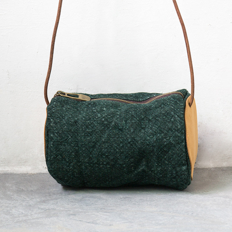 Women Retro Versatile Green Shoulder Bag - Buykud