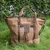Canvas Zipper Geometry Tote-Handle Bag Handbag Shoulder Bag - Buykud