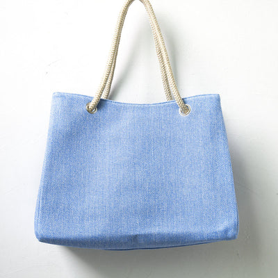 Versatile Women Casaul Large Capacity Blue Shoulder Bag - Buykud
