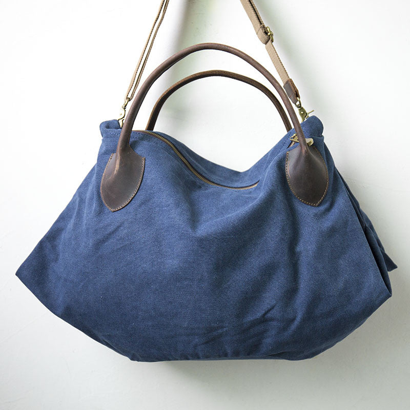 f85fe12b77 Women Canvas Leather Vintage Blue Tote Bag - Buykud