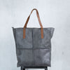 Noble Splicing Leather Women Gray Shoulder Bag - Buykud