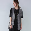 Dainty Applique Pocket Splicing Women Gray Waistcoat - Buykud