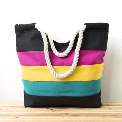 Women Vintage Multi Colorful Versatile Shoulder Bag - Buykud