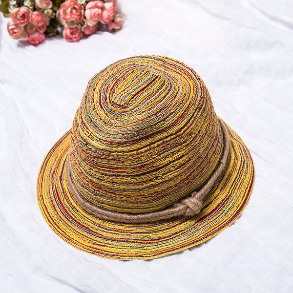 Summer Colorful Women Foldable Casual Hat - Buykud
