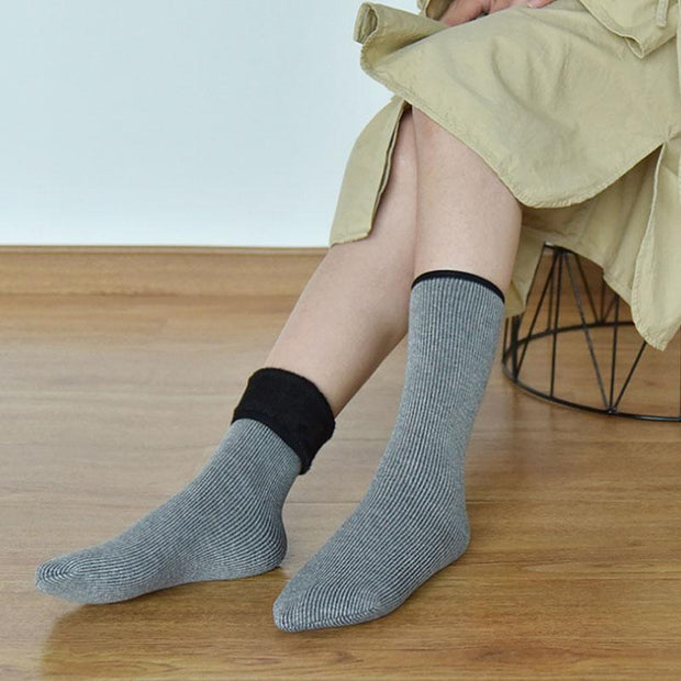 Cotton Wool Casual Keep Warm Bright Silk Women Socks