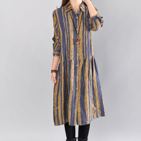 Women Cotton Shirt Dress
