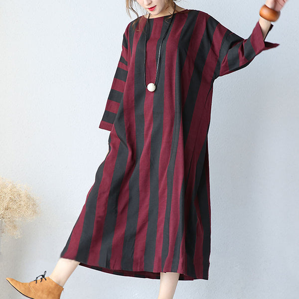 Women Cotton Autumn Loose Dress