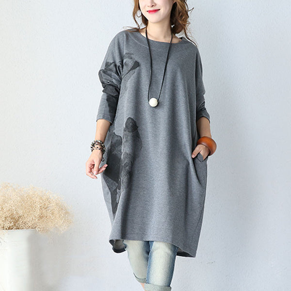 Cotton Knitted Hooded Dress