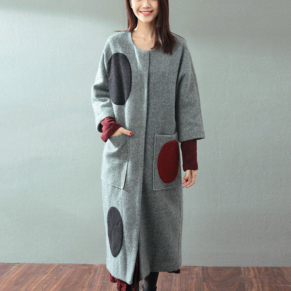 Stitching Wool Coat