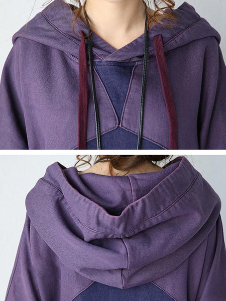 Women Long Sleeve Autumn Hooded Blouse