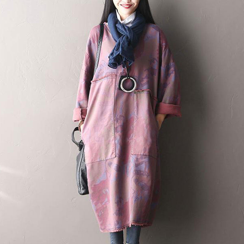 Hooded Long Sleeved Dress