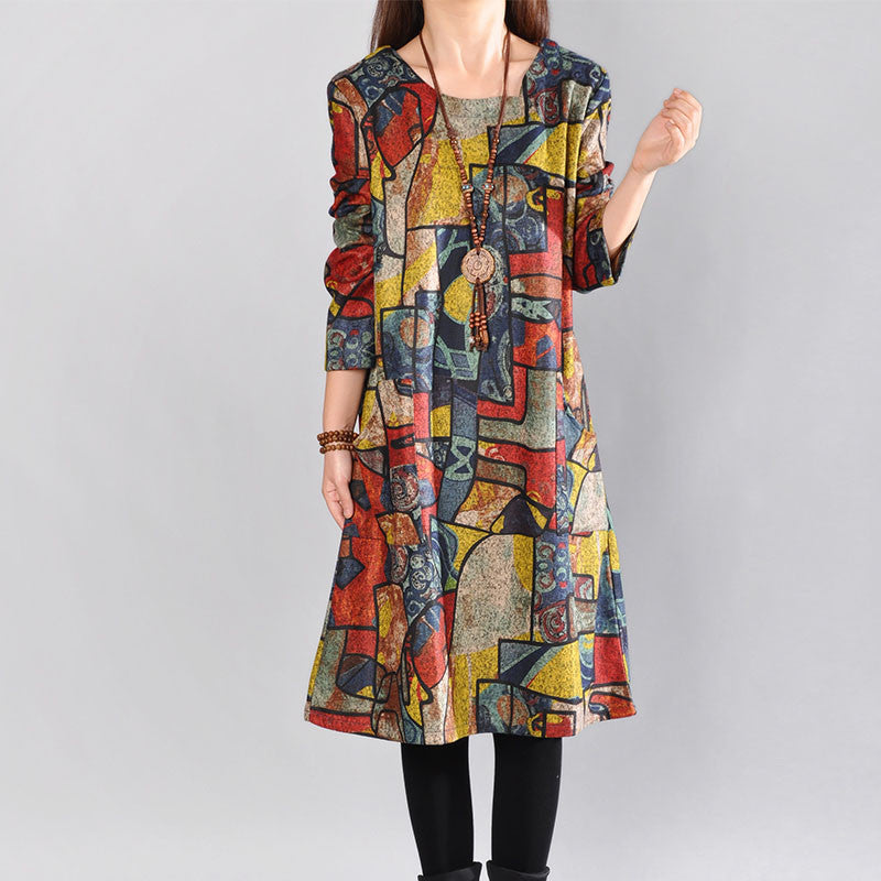 Casual Loose print dress