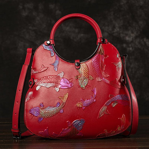 Fish Pattern Retro Women Bucket Bag