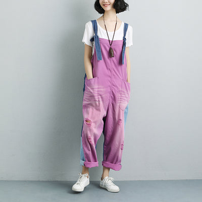 Women Summer Pockets Fashion embroidered Jumpsuits