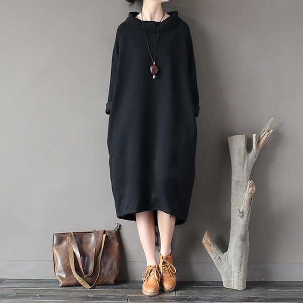 Black Irregular Loose Retro Dress Gown
