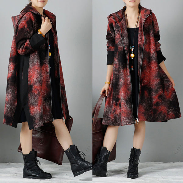 Women winter Hooded coat