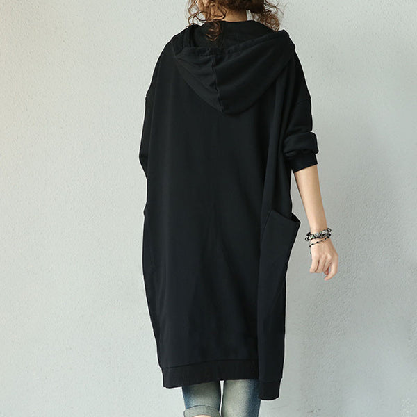 Cotton Casual Hooded Dress