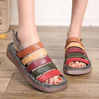 Summer Women Beach Shoes Casual Multicolor Sandals