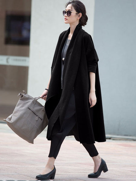 Long Sleeve Loose Jacket Black