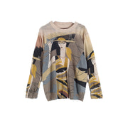 Buykud Casual Cartoon Character Printed Loose Sweater