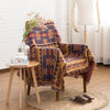 Geometry Print Tassel Sofa Cover Cotton Polyester Blanket