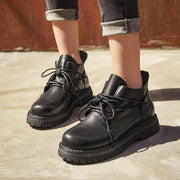 Women Leather Lacing New Booties 3