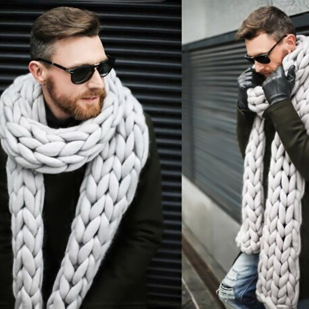 Woven Acrylic Hollow Winter Unisex Scarf