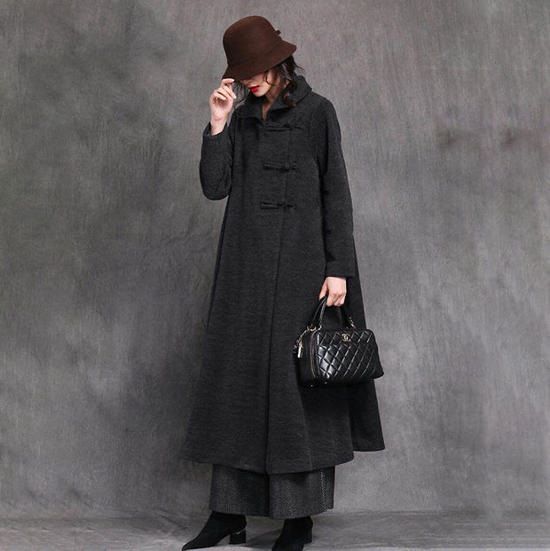 Women Vintage Chinese Style Winter Long Coat