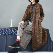 Chinese Style Flower Print Vintage Winter Cotton Coat