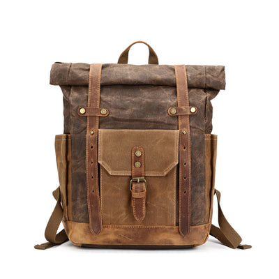 Unisex Vintage  Waterproof Travel Backpack