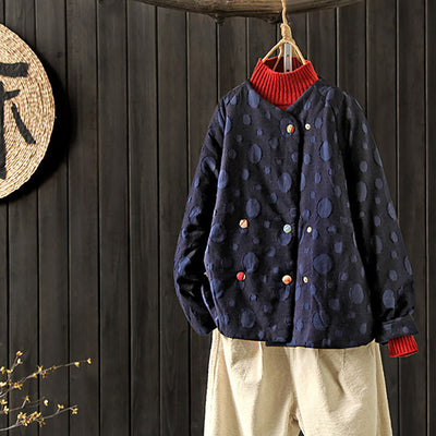 Vintage Cotton Linen Retro Buttons Cardigan Women Coat