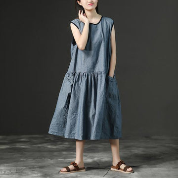 Loose Stripe Summer Sleeveless Dress
